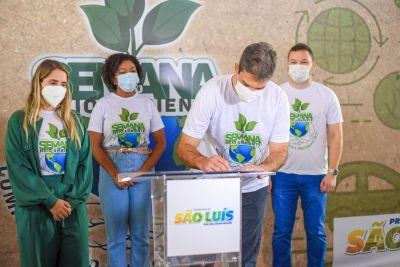 notícia: Prefeito Eduardo Braide abre Semana do Meio Ambiente 2021